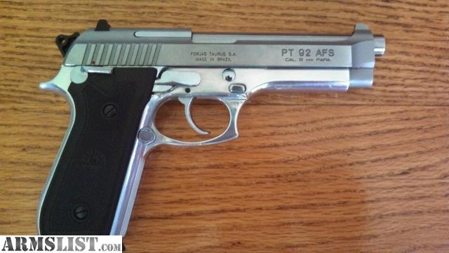taurus pt92 afs 9mm real nice gun one 15 round clip $450 or trade of ...