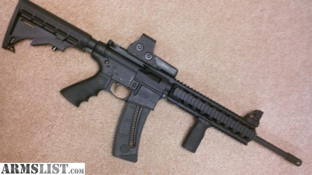 ARMSLIST - For Sale: S&W M&P 15-22 with Eotech 512 .22 cal