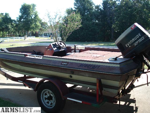 Armslist for sale trade 1987 procraft 18ft bass boat for Bass boats with evinrude motors