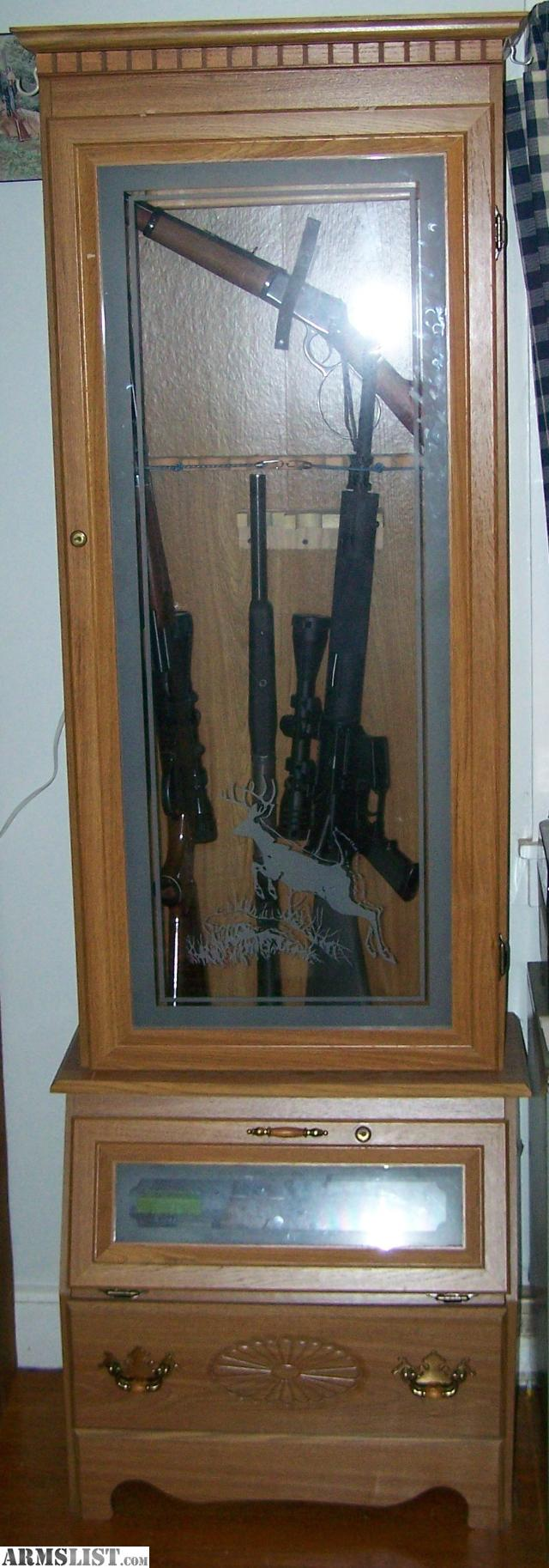 gun cabinets for sale armslist for trade wooden gun cabinet 16129