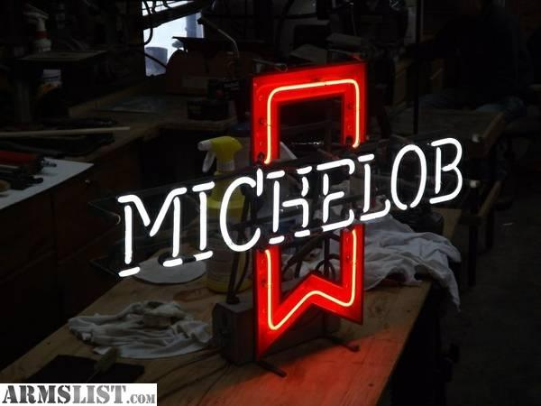 Man Cave Accessories For Sale : Armslist for sale trade mint neon michelob beer sign