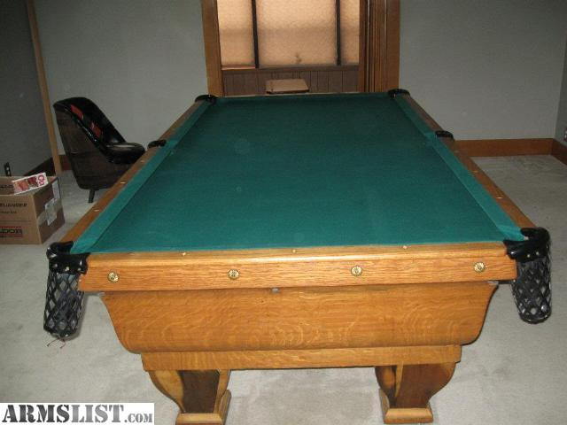 Armslist for sale trade 1880 s brunswick 10 foot for 10 foot pool table