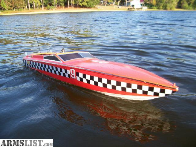 "ARMSLIST - For Trade: RC 51"" 30 cc Deep V Boat"