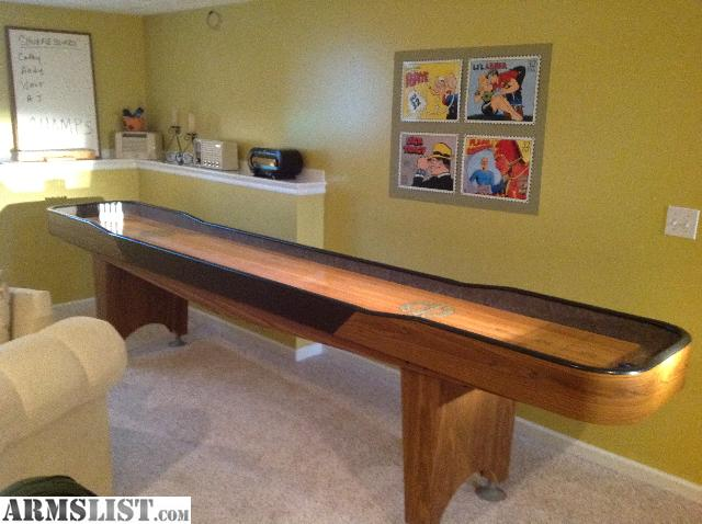 Awesome Have A Champion Shuffleboard Table And Accessories For Sale Or Trade.  Condition Is Excellent As It Was Used By Adults Only And Properly Cared For.