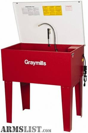 i have a graymills parts washer new in the box got this from the government they never used it these list for and another 200 shipping from many