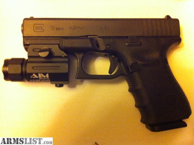 ARMSLIST - For Sale: BNIB Glock 19 Gen 4 w/ Tactical Light ...