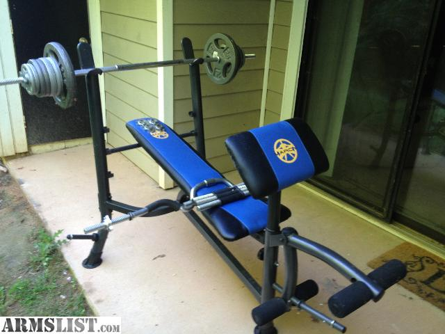 Armslist For Sale Weight Lifting Bench With 110 Lbs Of Weights