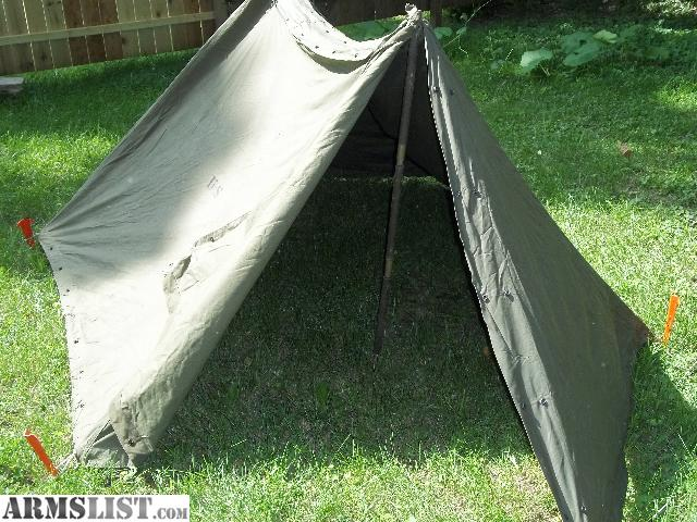 New army pup tent.Fit in backpack. & ARMSLIST - For Sale: Army Pup Tent