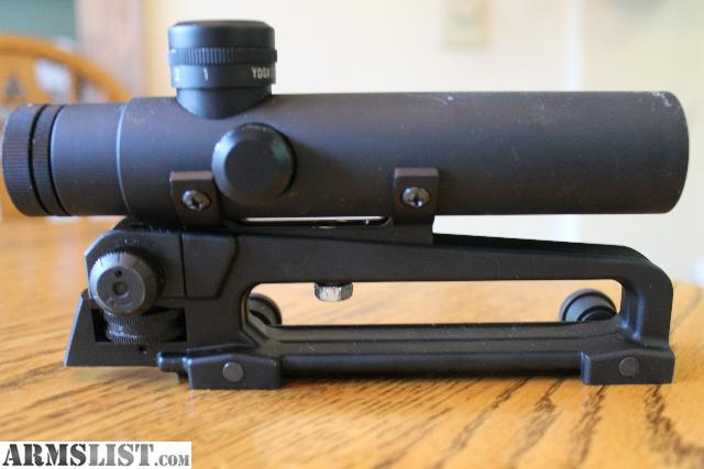 For sale ar 15 carry handle a2 sights leapers 4x20 multi x scope