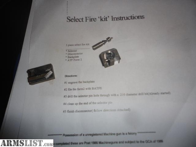 armslist for sale 80 select fire glock kit. Black Bedroom Furniture Sets. Home Design Ideas