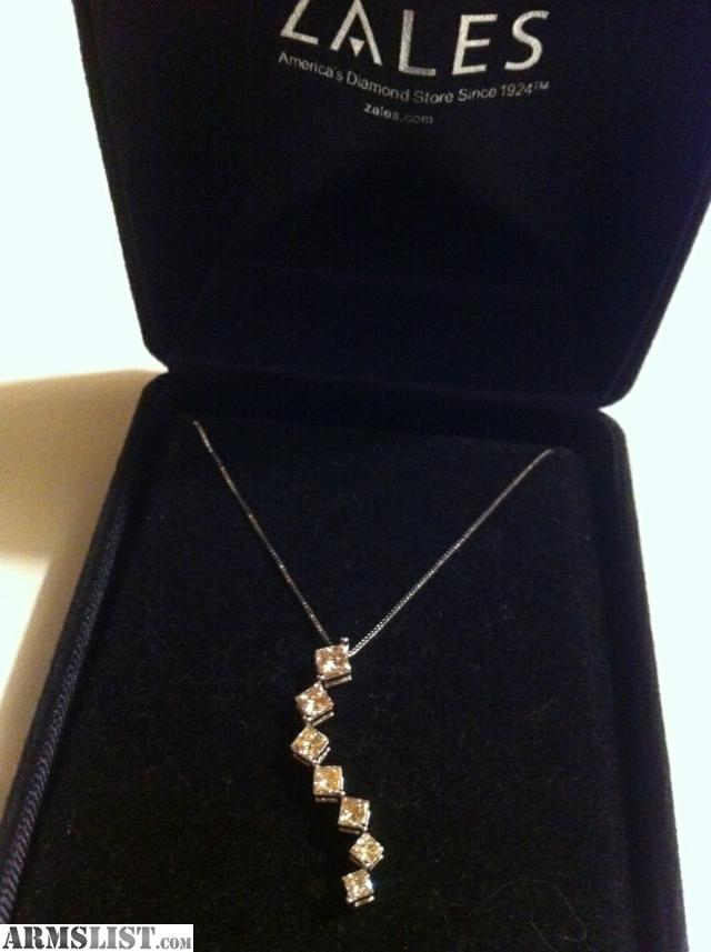 ARMSLIST For Sale Trade 1kt diamond 14kt white gold necklace and 14kt whit