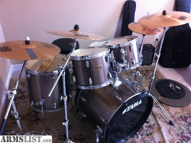 armslist for sale trade tama imperialstar 5 piece drum set with sabian b8 cymbals. Black Bedroom Furniture Sets. Home Design Ideas