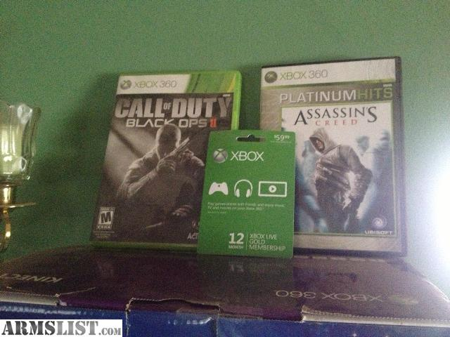 armslist for trade xbox 360 kinect wifi live 1 year black ops plus 3 other games trade. Black Bedroom Furniture Sets. Home Design Ideas