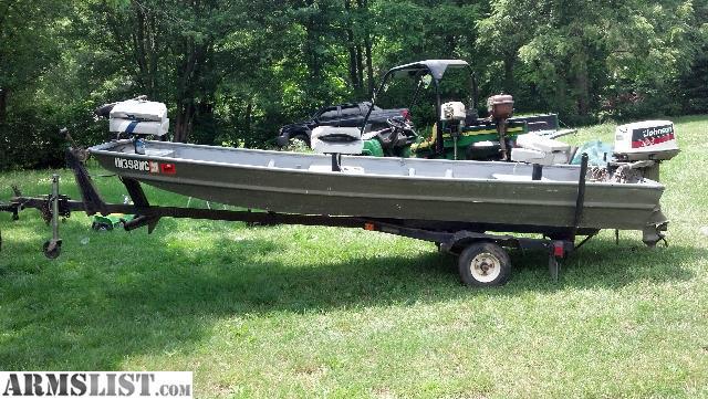 Armslist for sale 14ft flat bottom jon boat for Flat bottom fishing boats