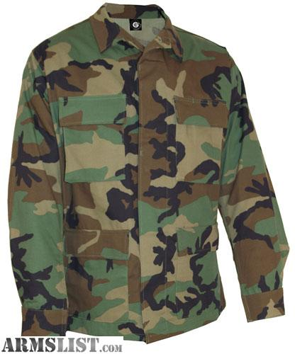 armslist for sale bdu woodland camo clothing