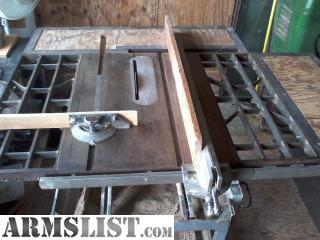 Armslist for sale vintage craftsman 10 contractors for 10 inch table saws for sale