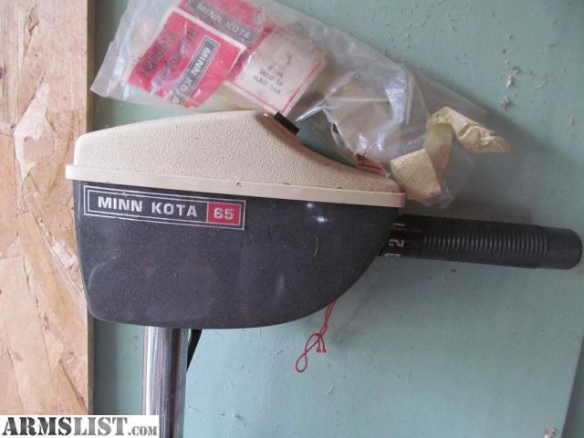 Armslist for sale minn kota 65 for Minn kota electric motor for sale