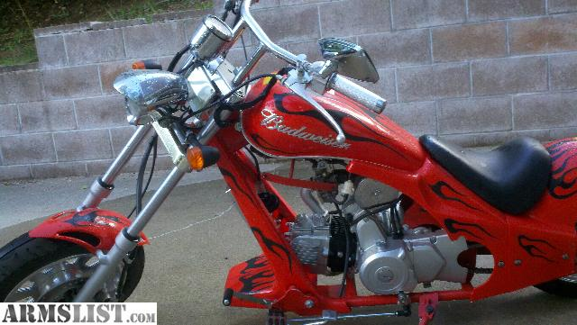 armslist for sale budweiser edition 50cc mini chopper. Black Bedroom Furniture Sets. Home Design Ideas