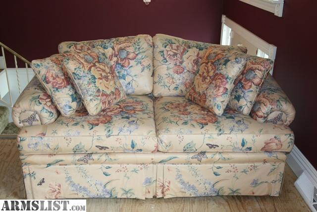 armslist for sale ethan allen sofa love seat 4 pillows arm