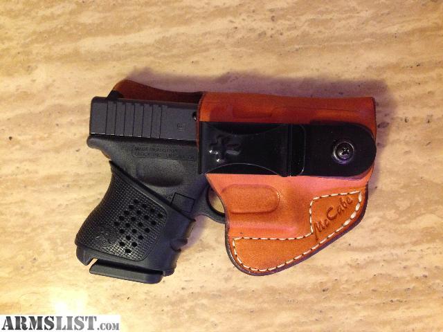 ARMSLIST - For Sale: Custom IWB Holster for Glock 26/27