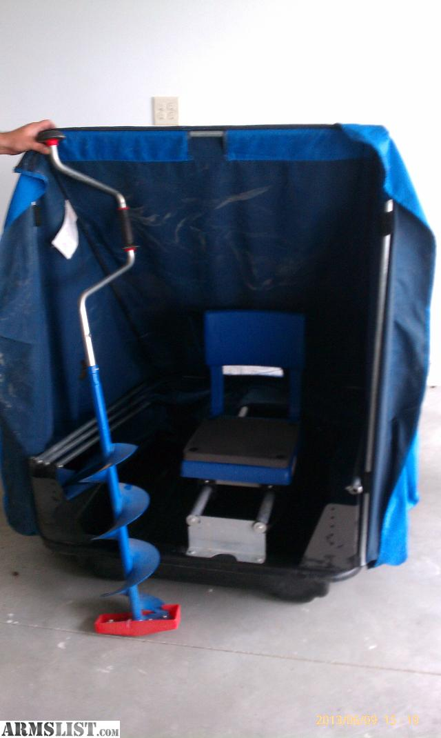 Armslist for sale dave genz ice fishing shelter for Ice fishing huts for sale