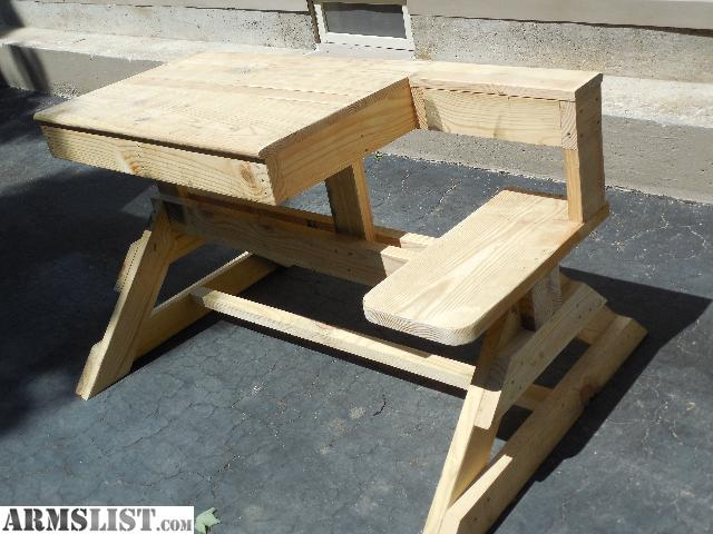 Armslist For Sale Heavy Duty Wooden Shooting Bench