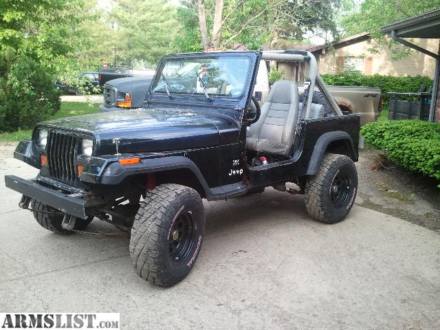 armslist for sale trade 1990 jeep wrangler nice 4 inch lift and 31 tires. Black Bedroom Furniture Sets. Home Design Ideas