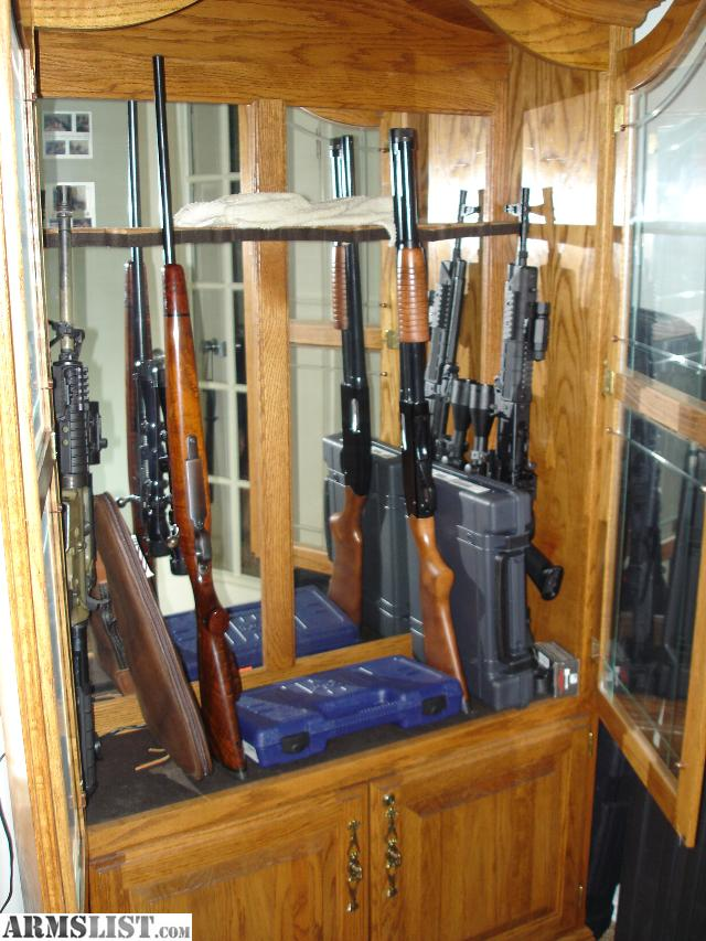 armslist - for sale/trade: oak gun cabinet