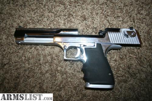 ARMSLIST - For Sale: Chrome Desert eagle .50 AE with 200 ...