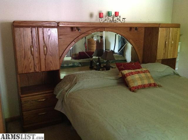 Armslist For Sale Trade King Size Mirrored Bookcased Headboard Bedroom Suit In Trade For Firearms