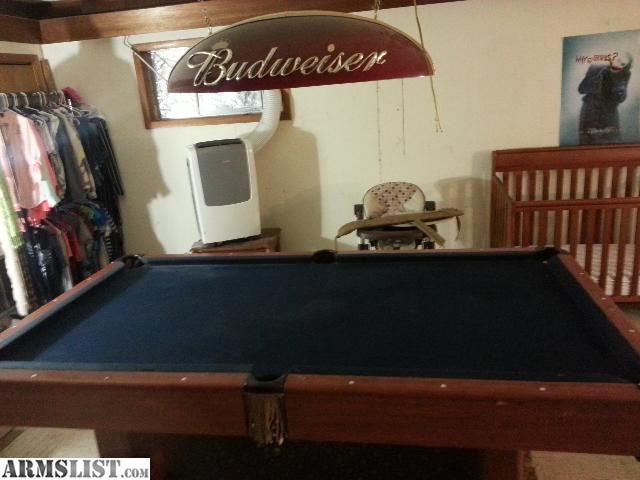 ARMSLIST For Trade Harvard Slate Pool Table And Budweiser Light - Rolling pool table