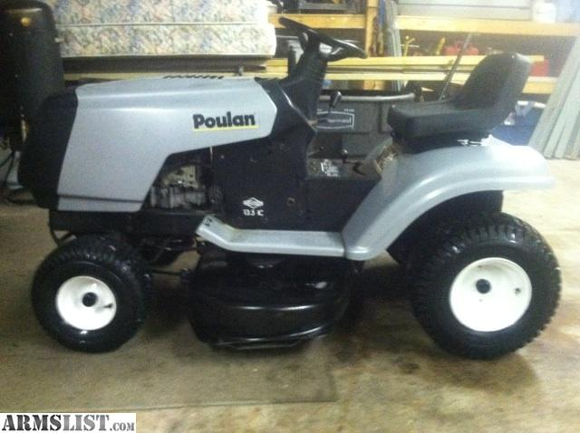 Armslist for sale trade new poulan riding lawn mower for for Lawn tractor motors for sale
