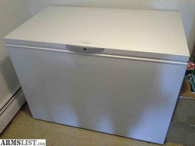 frigidaire glfc1526fw9 chest freezer it is at least 13 cuft less than a year old paid 600 and asking 500 or best offer likenew to almost brand new