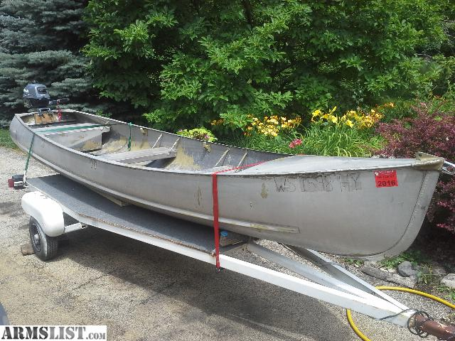 Armslist for sale grumman sport trailer and motor for Outboard motors for sale in wisconsin