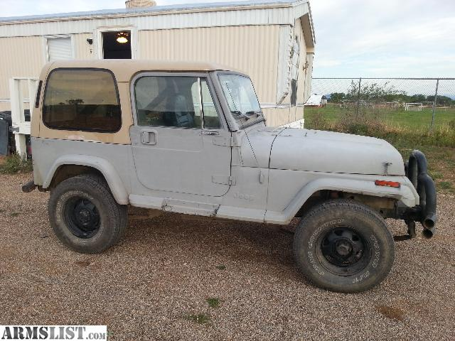 ARMSLIST - For Sale: 89 jeep wrangler