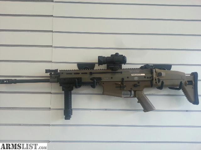 Fn scar 17 fde 308 comes with pelican case aim point pro optics not