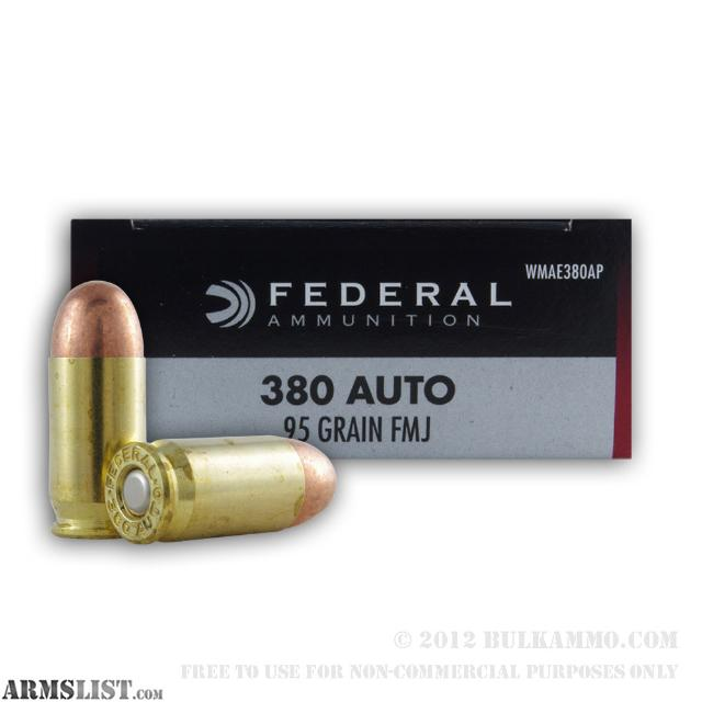 ARMSLIST - For Trade: 380 FMJ ammo. Sell or trade for 9mm ammo