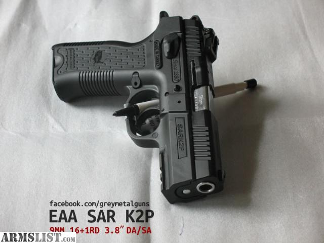For Sale: Brand New EAA SAR K2P 9MM DA 3.8