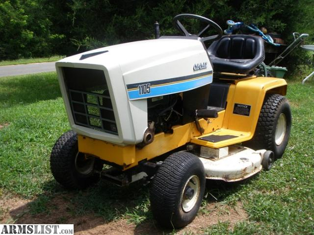 Armslist For Sale Trade 1985 Cub Cadet 1105 Lawn Tractor