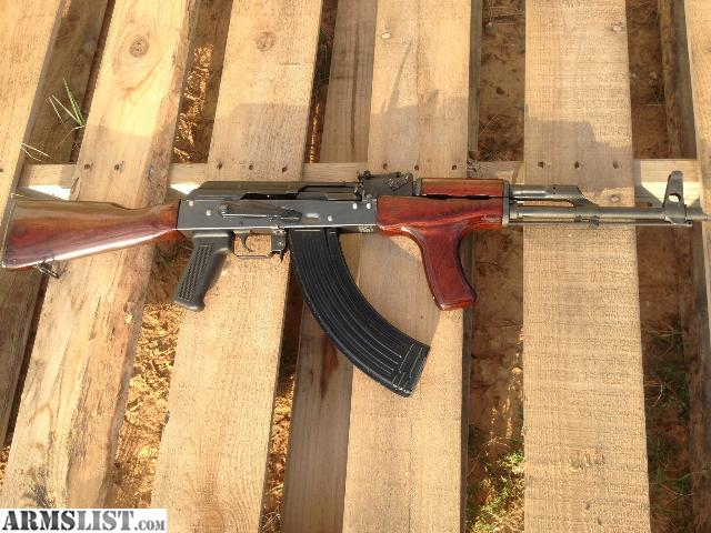 This is a new build on an original Romanian Civil Guard AK 47 kit  It  features a stamped receiver  refinished wood furniture  16  barrel with  slant muzzle. ARMSLIST   For Sale  Romanian Civil Guard AK 47  AKA Romy G