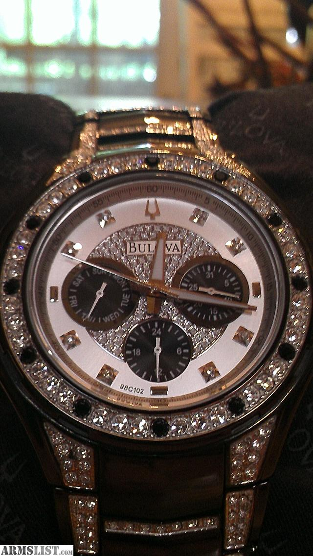 armslist for trade mens bulova diamond watch brand new i have a brand new never worn men s bulova diamond watch it was a gift and just sits in my safe so its time to go and i am looking to put