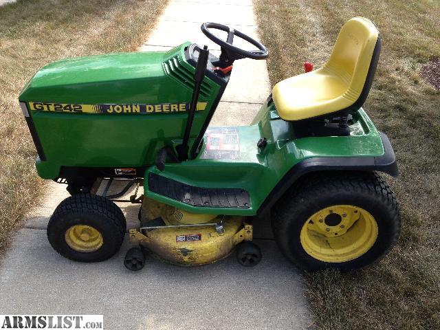 Armslist for sale trade john deere gt 242 riding lawn mower Used garden tractors for sale near me