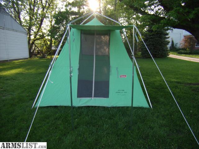 For Sale/Trade Vintage Coleman Canvas Umbrella Tent & ARMSLIST - For Sale/Trade: Vintage Coleman Canvas Umbrella Tent