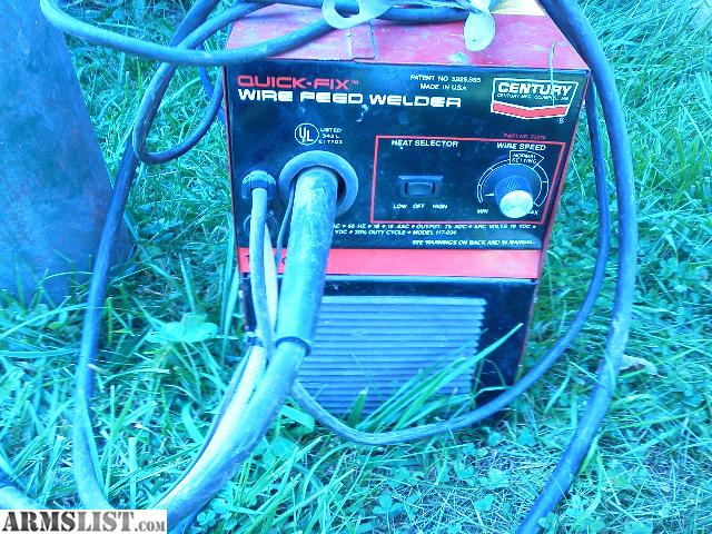 ARMSLIST - For Trade: 110/120 wire fed with gas. Century mig welder