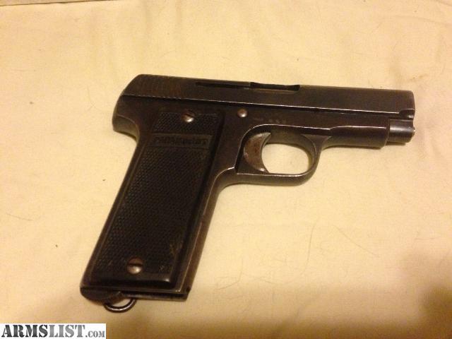 For Sale: 1915 Spanish Ruby .32 Auto Pistol W/ammo
