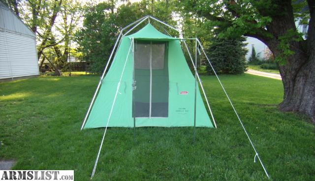 For Sale Immaculate Vintage Coleman Canvas C&ing Tent & ARMSLIST - For Sale: Immaculate Vintage Coleman Canvas Camping Tent