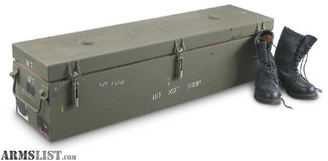 ARMSLIST For SaleTrade Large Military Storage Container