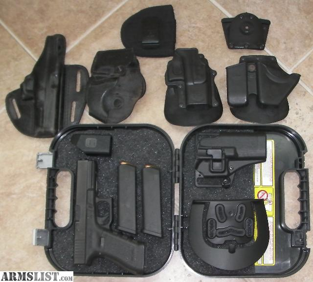 ARMSLIST - For Sale: Glock 17 Gen 3 9MM + Holsters