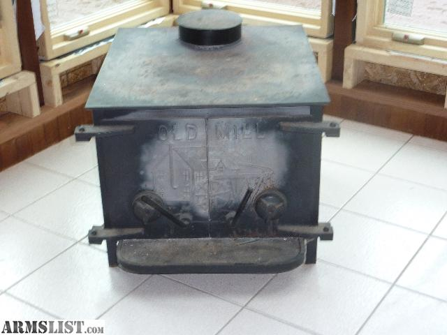 This Old Mill wood stove is in perfect working order and in good condition.  Dimensions of the stove are 2' X 2.5', you can fit massive logs in this  stove. - ARMSLIST - For Sale/Trade: Old Mill Wood Stove