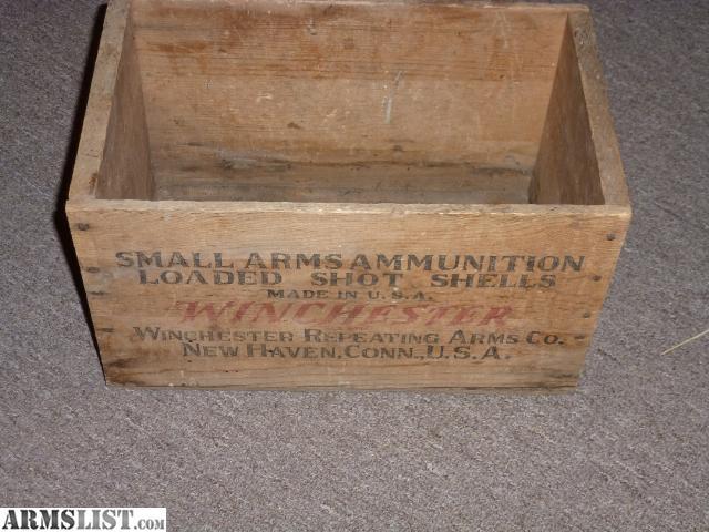 armslist for sale old winchester wooden 16 gauge shotshell box. Black Bedroom Furniture Sets. Home Design Ideas